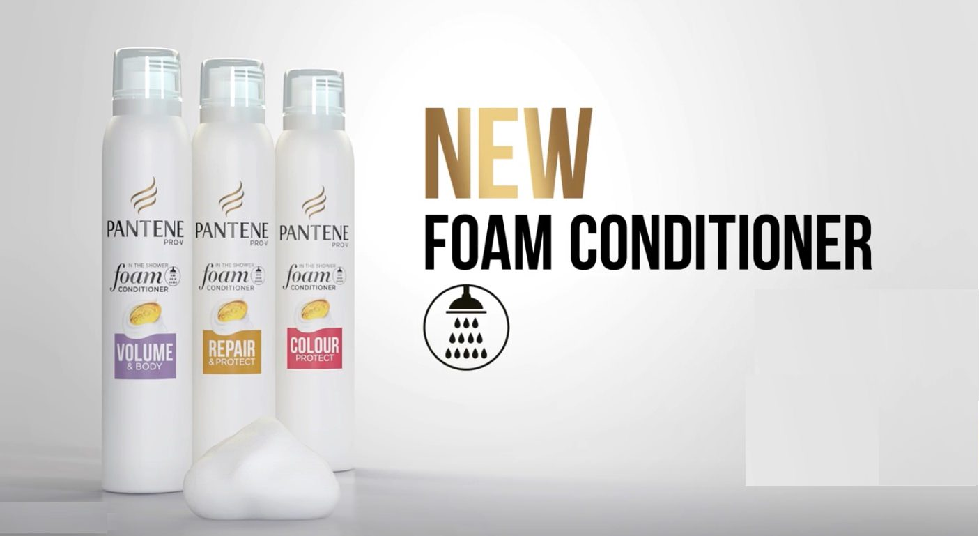 image of the new Pantene Pro-V Foam Conditioners